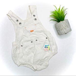 Koala Baby Lightweight Striped Romper Overalls